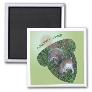 Acorn-cut Adult Squirrel Lover Magnet