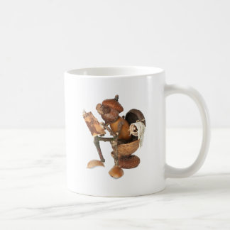 Acorn elf on the throne coffee mug