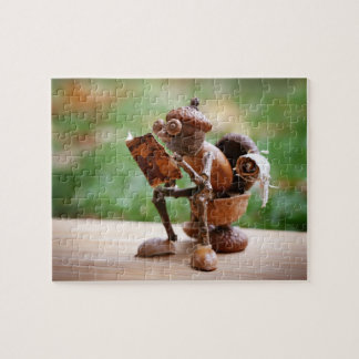 Acorn elf sitting on the toilet jigsaw puzzle