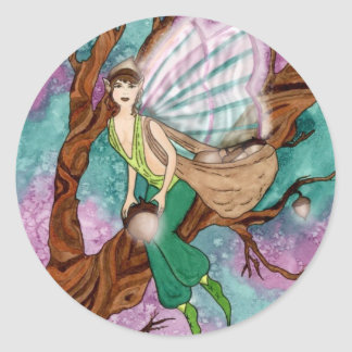 Acorn Fairy Sticker