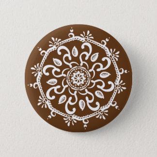 Acorn Mandala 2 Inch Round Button