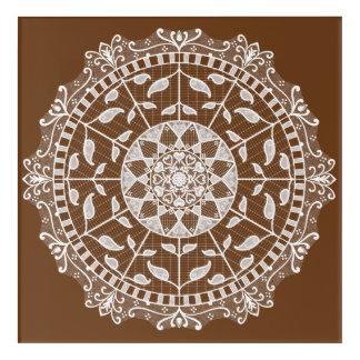 Acorn Mandala Acrylic Print