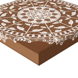 Acorn Mandala Canvas Print