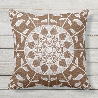 Acorn Mandala Outdoor Pillow