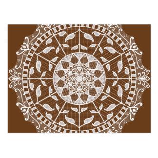 Acorn Mandala Postcard