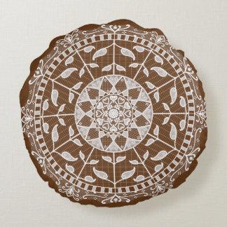 Acorn Mandala Round Pillow
