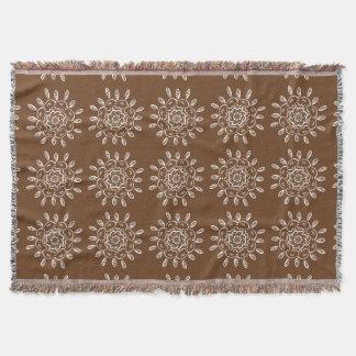 Acorn Mandala Throw Blanket