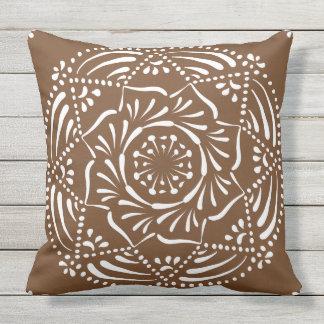 Acorn Mandala Throw Pillow