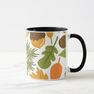 Acorn Pattern Mug