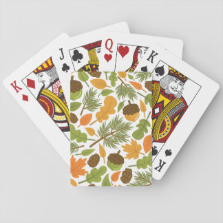 Acorn Pattern Playing Cards