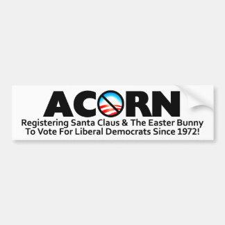 Acorn: Registering Santa Bumper Sticker