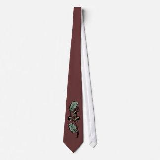 Acorn scroll Tie