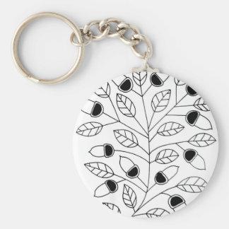 Acorn Tree Keychain