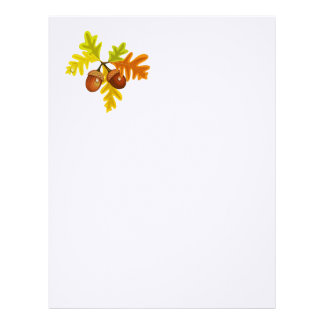 Acorns and Leaves Custom Letterhead