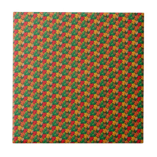 Acorns and leaves III Tiles