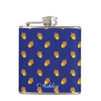 Acorns blue flasks