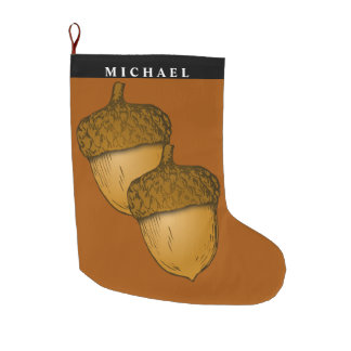 Acorns Christmas Stocking