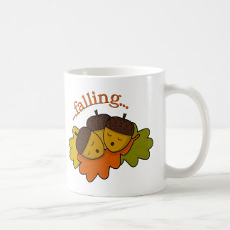 acorns falling (asleep) coffee mug