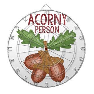 Acorny Person Dartboard