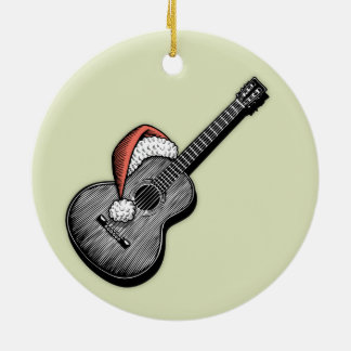 Acoustic Claus Ceramic Ornament