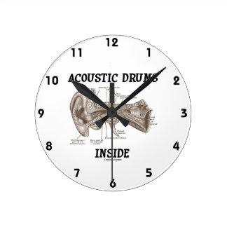 Acoustic Drums Inside (Anatomy Of Human Ear) Wallclock