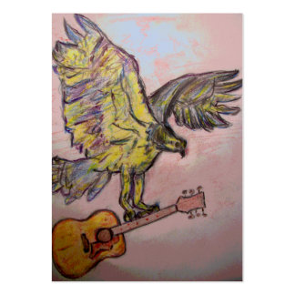 Acoustic Fish Hawk Large Business Card