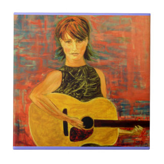 acoustic girl art tile