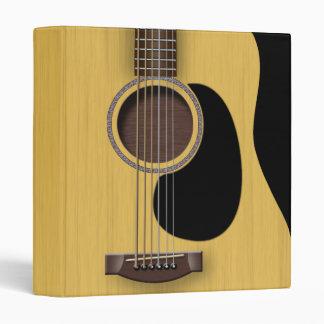 """Acoustic Guitar 1"""" Binder"""