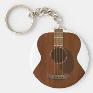 Acoustic Guitar Art Keychain
