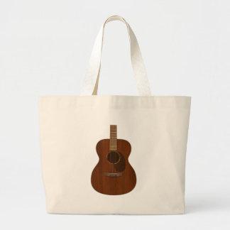 Acoustic Guitar Art Large Tote Bag