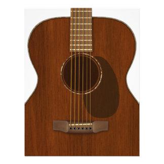 Acoustic Guitar Art Letterhead
