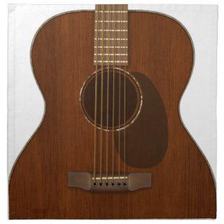 Acoustic Guitar Art Napkin