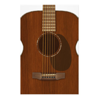 Acoustic Guitar Art Stationery