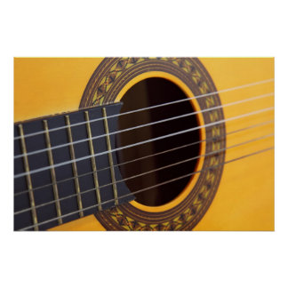 Acoustic Guitar Background Poster