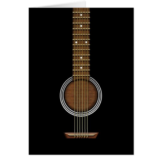 ACOUSTIC GUITAR BIRTHDAY GREETING CARD