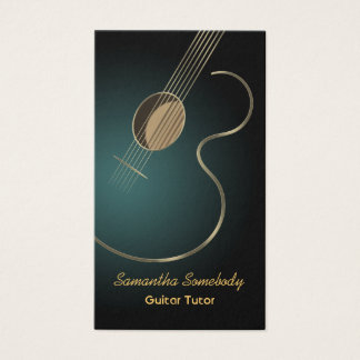 Acoustic Guitar Business Card