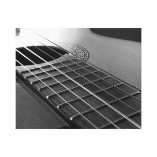 Acoustic guitar. canvas print