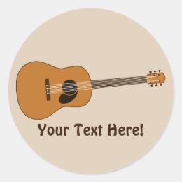 custom acoustic guitar stickers. Black Bedroom Furniture Sets. Home Design Ideas