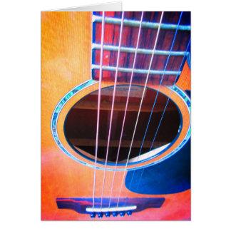 Acoustic Guitar Colors of Music Pop Art Card