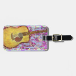 Acoustic Guitar Colours Tag For Luggage
