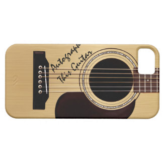 Acoustic Guitar Custom Autograph iPhone 5 Case