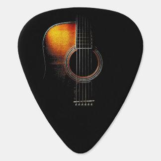 Acoustic Guitar Design Plectrum Version 4 Pick