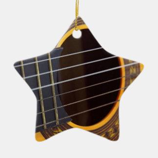 Acoustic Guitar Detail Ceramic Ornament