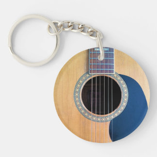 Acoustic Guitar Dreadnought 6 string Keychain