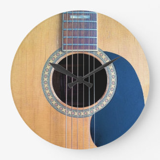 Acoustic Guitar Dreadnought 6 string Large Clock