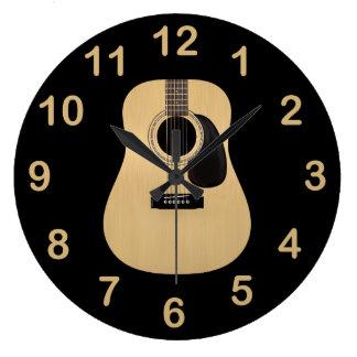 Acoustic Guitar Large Clock