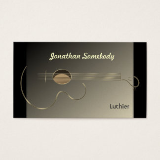 Acoustic Guitar Logo Business Card Template