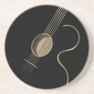 Acoustic Guitar Logo Coaster