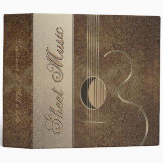 "Acoustic Guitar Logo Design 2"" Avery Binder"