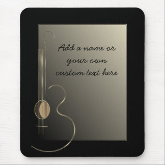 Acoustic Guitar Logo Design Mousepad